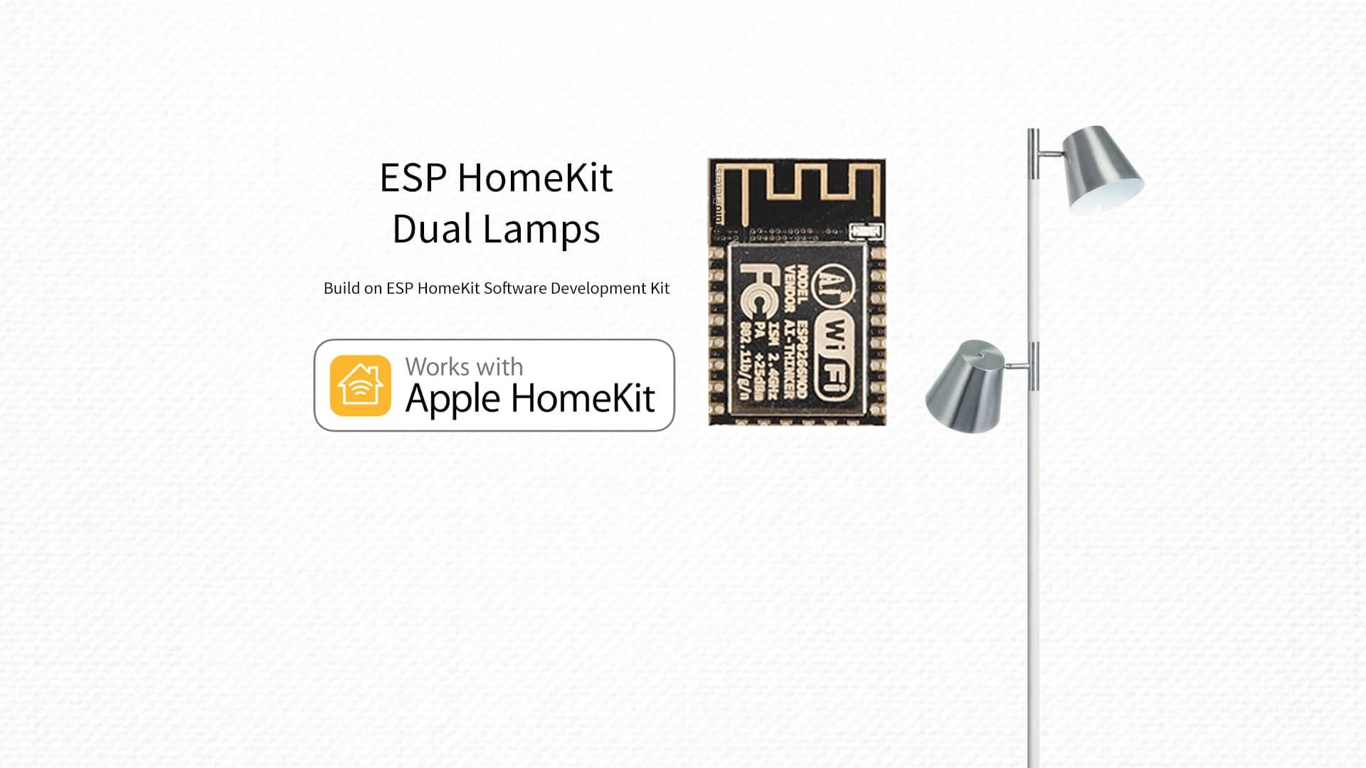 ESP8266 – HomeKit Dual Lamps